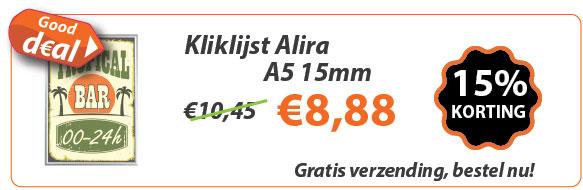 Kliklijst Alira A5 15mm actie