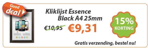 Kliklijst Essence Black A4 25mm