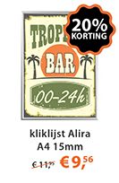 Kliklijst Alira A4 15mm actie