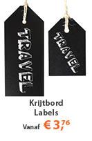 Krijtbord Label