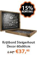 Krijtbord Steigerhout Decor 60x80