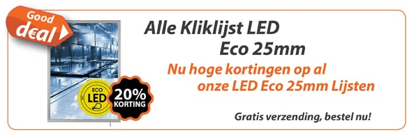 Alle Kliklijsten LED Eco 25mm